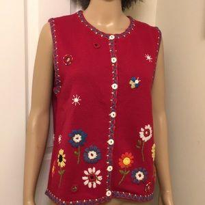 NWT Susan Bristol Pendleton Vest Sweater. Size: M
